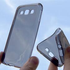 custodia in silicone TPU cover trasparente fumè per Samsung Galaxy E5 SM-E500F