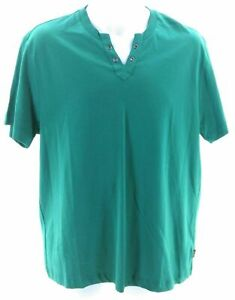 Kenneth Cole Reaction Shirt Mens Size Large Short Sleeve Green