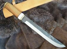 Sax- Mittelalter-Wikingermesser-Carbonstahl-Handgeschmiedet-Holzgriff- 43cm (K39