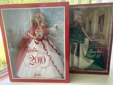 Lot Of 2 NEW Holiday Barbie 2010 and 2011