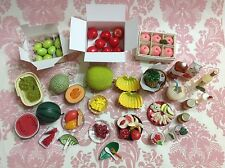 Dollhouse Miniature Beautiful Assorted Fruit n Drinks Set 1:12