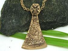 Talla Celta Hacha bronce colgante hoja Hacha con adornos incl. bronzekette