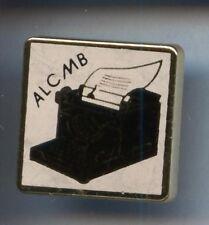 RARE PINS PIN'S .. TV RADIO PRESSE MACHINE A ECRIRE REMINGTON ALC MB ¤6C