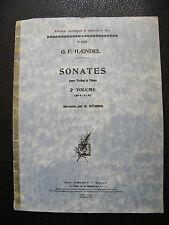 Partition Haendel Sonates pour Violon et Piano Busser Music Sheet