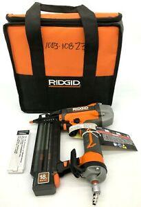 Ridgid R213BNF Brad Nailer Strip W/ Clean Drive Technology 18-Gauge, N M