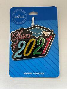 Hallmark Graduation Ornament ~ Class of 2021 ~ Metal Multicolor Ornament