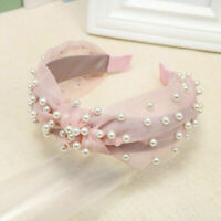Fashion Women Lace Pearl Knot Headband Hairband Hair Hoop Girls Accessories