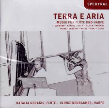 TERRA E ARIA - MUSIK FÜR FLÖTE UND HARFE Natalia Gerakis, Neubacher, CD, NEU OVP