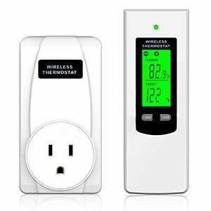 Programmable Wireless Plug-in Thermostat Outlet, Electric Thermostat Controlled