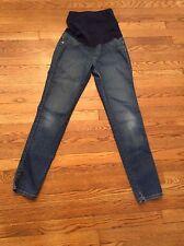 James Jeans Women's Havana Skinny Maternity Jeans Size 28 Distressed Look