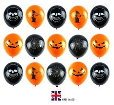 15x HALLOWEEN BALLOONS Skull Trick Treat Cobweb Decorations Spooky Party Parties
