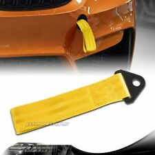 High Strength Yellow Racing Tow Towing Strap Hook Front Rear Bumper Universal