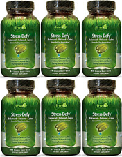 Irwin Naturals Stress Defy, Balanced, Relaxed, Calm Soft-Gels, 84-CNT (6 Pack)