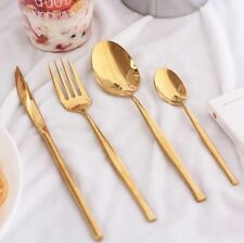 24 pc Gold Plated Flatware Set & Gold Plated Flatware and Silverware | eBay