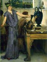 LAWRENCE ALMA TADEMA POTTERY PAINTING OLD MASTER ART PAINTING PRINT 1856OMB