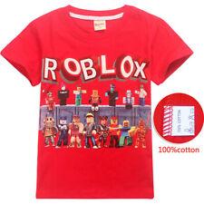 UK Childen Roblox Cotton T-shirts Kids Boys Girls Short Sleeve Tops Tee T shirt