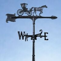 """30"""" Country Doctor Black Roof Mount Weathervane Aluminum Whitehall Products"""