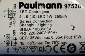 LED Cotrolgear 1-9 10 Watt Serie Connection 350mA SHLD- 10S350EA Paulmann 97538
