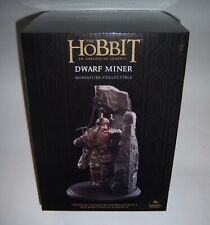The Hobbit Dwarf Miner Miniature Statue Figure Weta Lord Of The Rings Sideshow