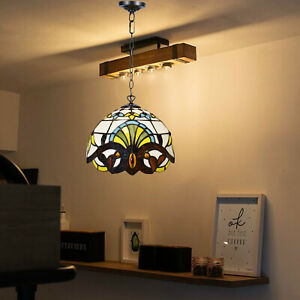 Antique Tiffany Style 10 inch Pendant Lamp Handcrafted Art Unique Design Shade