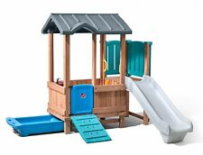 Step2 maison de jeu avec toboggan Woodland Adventure193 cm marron / bleu