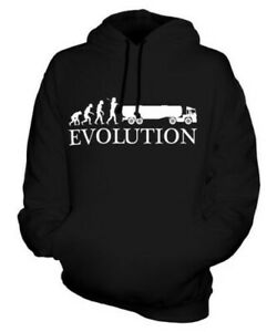 TANKER EVOLUTION OF MAN UNISEX HOODIE TOP GIFT DRIVER LORRY