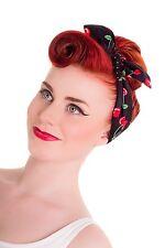 Hell Bunny Cherry Pop Hair Tie Scarf 50s Rockabilly Polka Dot Cherries PinUp