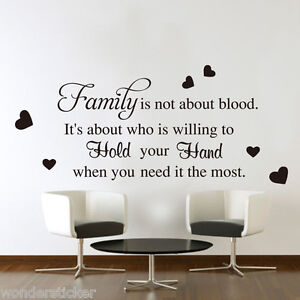 Family Blood Wall Art Quotes Vinyl Sticker, DIY Home Wall Decal- HIGH QUALITY