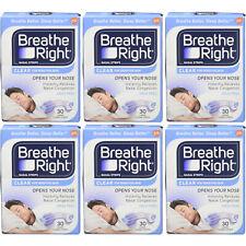 Breathe Right nasal tiras original grande 30ct paquete de 6 757145002467t937