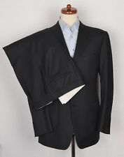 Canali Anzug Suit Gr 50 Streifen Stripes Wolle Wool Made in Italy Anthrazit SEE