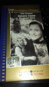 A.VERGNANO - AMORE ROSSO-VHS Videocassetta nuova sigillata-L'Unione Sarda