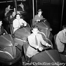 Bumper Cars / Amusement Park, Southington, Connecticut 1942 Historic Photo Print
