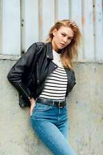 Topshop Real Leather Jacket size 8 General Pants Glue Store Universal Neuw