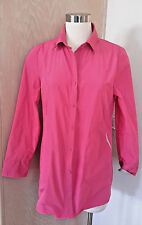 Point Adorable Long Sleeve Pink Light Weight Button front Windbreaker L