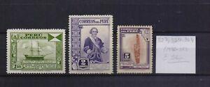 ! Peru 1936-1938.  Stamp. YT#327,354,364. €56.00!