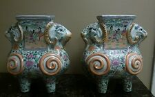Asian double doublehead ram vase (lot2) Estate find