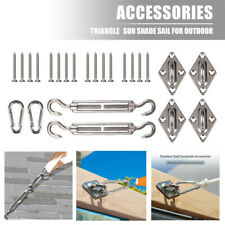 More details for 8pcs stainless steel outdoor garden sun sail shade canopy fixing fittings screws