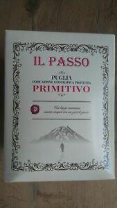 IL PASSO Puglia Primitivo italienischer Rotwein 5L Bag in Box ungeöffnet 13,5%