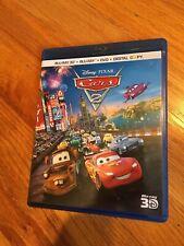 CARS 2 3D BLURAY + BLURAY + DVD 5 DISC DISNEY