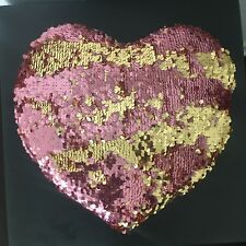 Heart Shaped Mermaid Flip Sequin Pillow