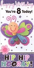 Woolly & Friends Butterfly Birthday Greeting Card to a Special Friend for Her
