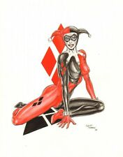 Harley Quinn Color Commission - 2006 Signed art by Scot Morgan
