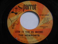 SHIGS The Newports Listen Original 1966 45rpm VG+ PROMO