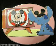 Disney Auction Stitch Watching Television with Card LE Pin