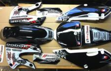 KLX 110 Monster 02-09 Kx 65 02-12 Graphics Black H&H Kit