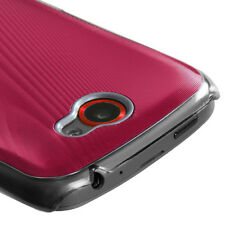 T-MOBILE HTC ONE S BRUSHED ALUMINUM BACK COVER RED