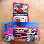 Disney PIXAR Cars SHIFTY DRUG HAULER & RUBBER TIRE RACER diecast set lot bundle