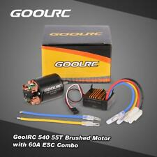 Genuine GoolRC 540 55T Brushed Motor with 60A ESC Combo for 1/10 Axial RC I1O9