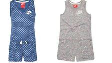 Nike Little Girls Dot Print Romper Size 4,5,6,6x Gray, Royal Pulse MSRP $35.00