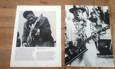 BB KING / BO DIDDLEY 2 magazine PHOTO/clippings  each 11x8 inches in size